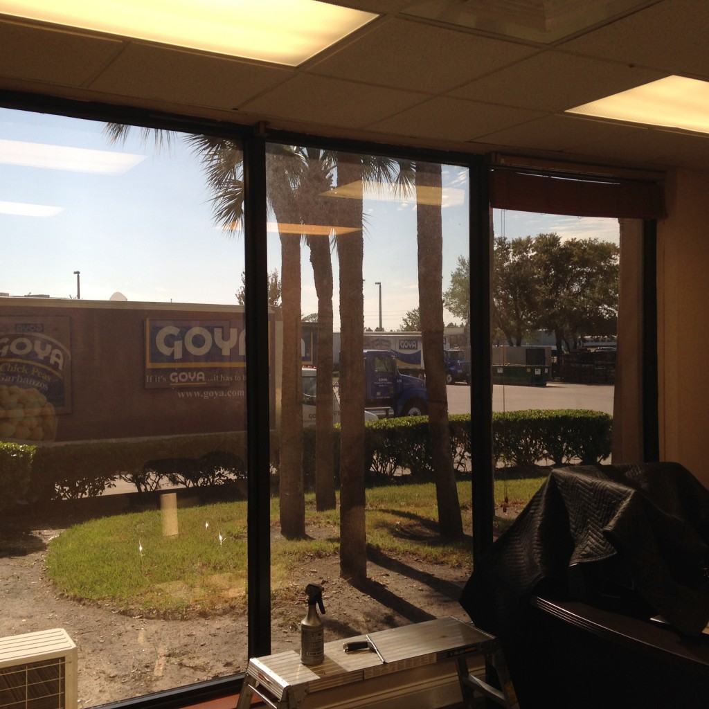 Commercial window film installation goya foods orlando for Window installation orlando