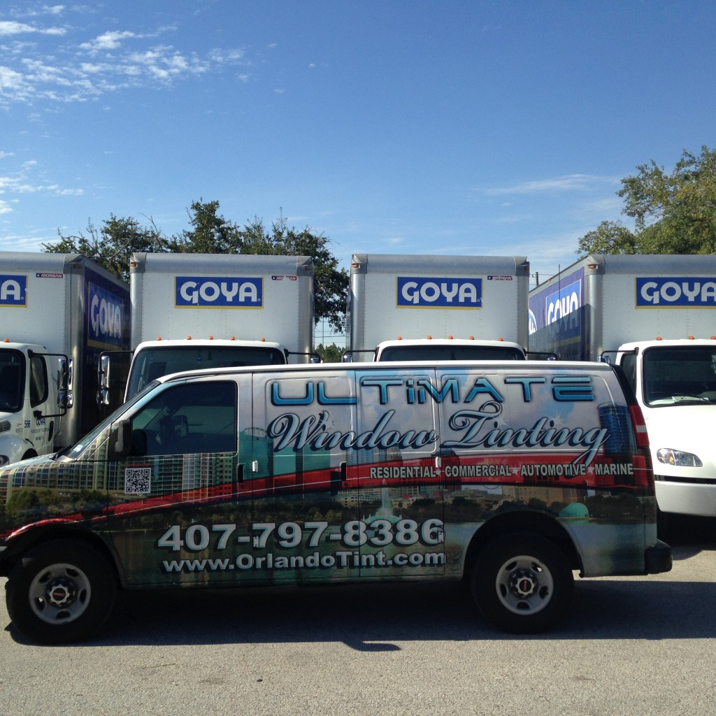 goya foods window film install