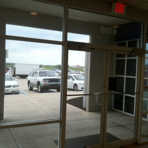 mirror window film commercial storefront