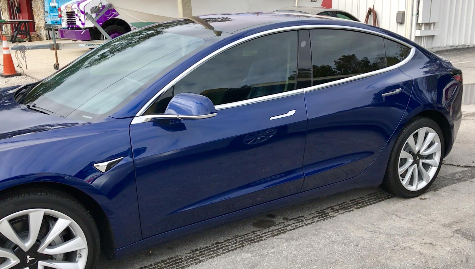 Tesla Model 3 Window Tint Paint Protection Chrome Delete