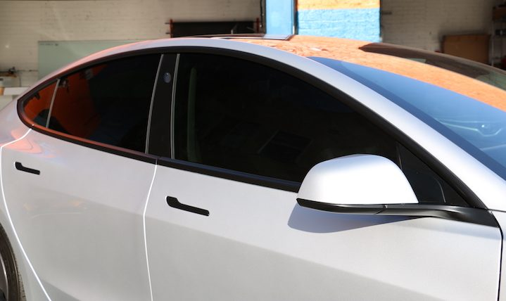Tesla Model 3 Window Tint, Paint Protection, Chrome Delete