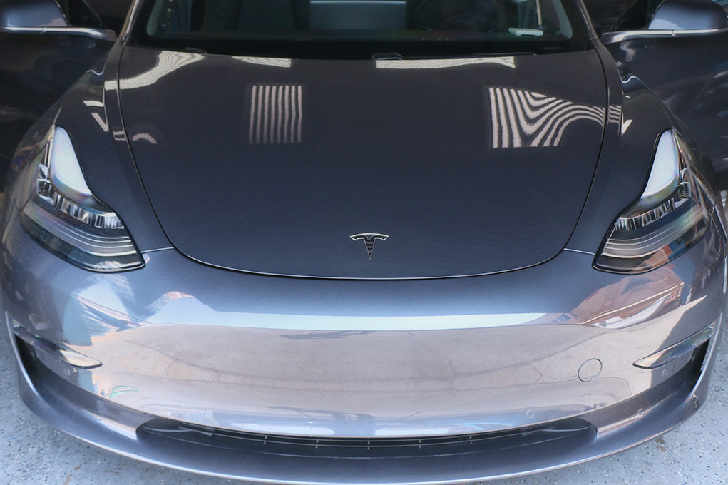 Tesla Model 3 Paint Protection Film Clear Bra - Ultimate ...
