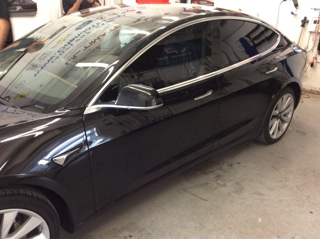 Black Tesla Model 3 Ceramic Window Tint In Orlando