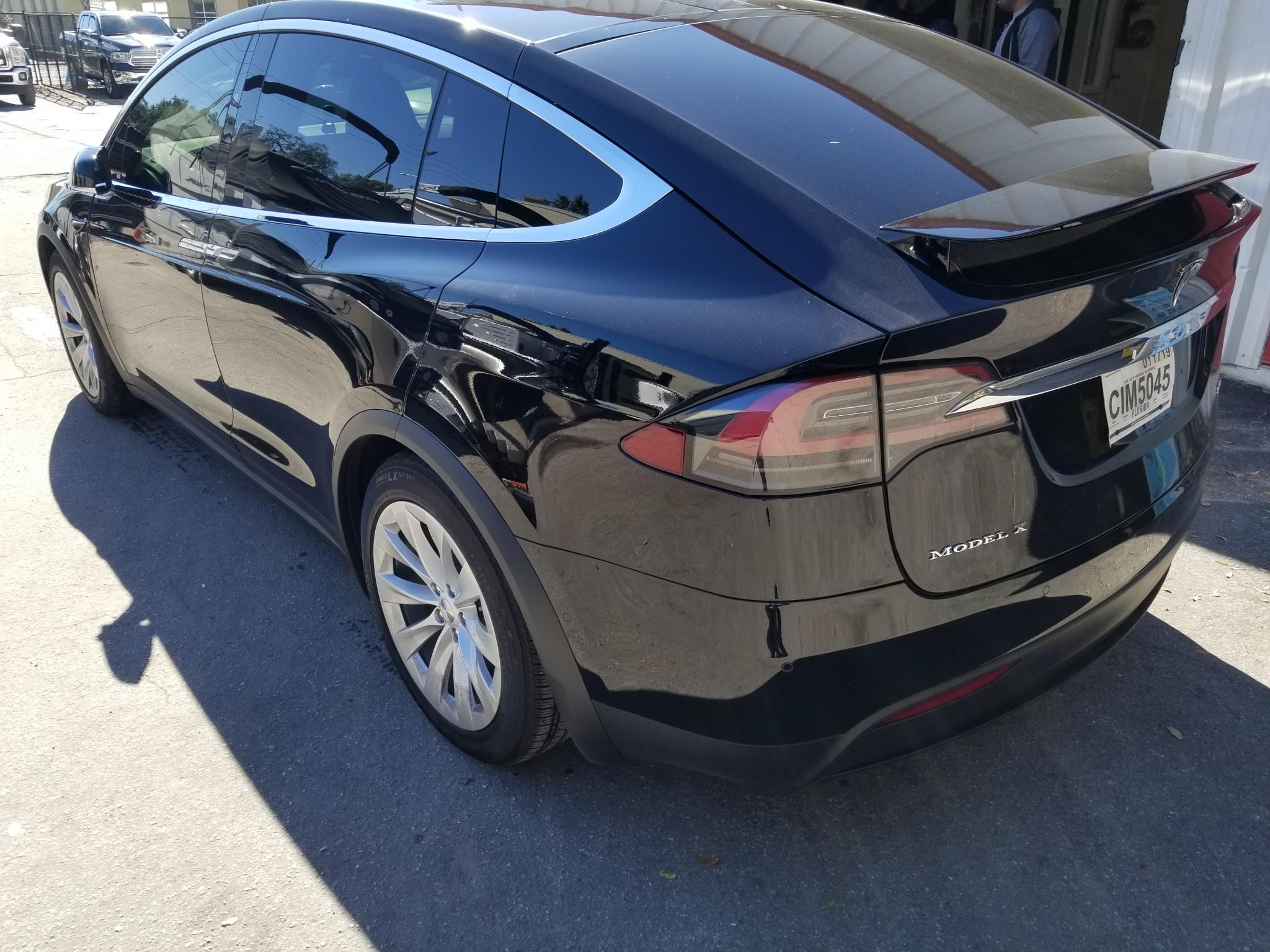 Black Tesla Model X Windows Tinted in Orlando