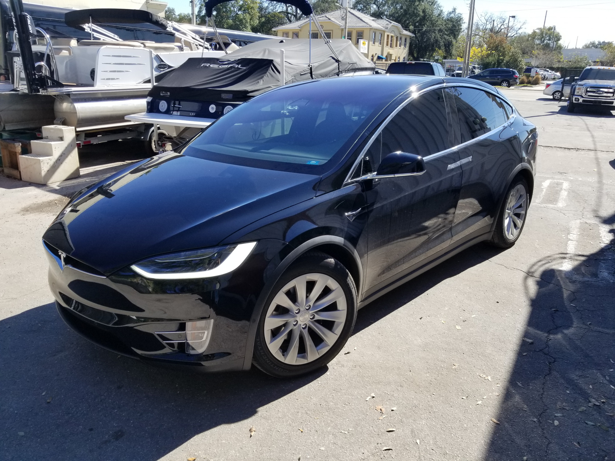 Black Tesla Model X Window Tinting in Orlando