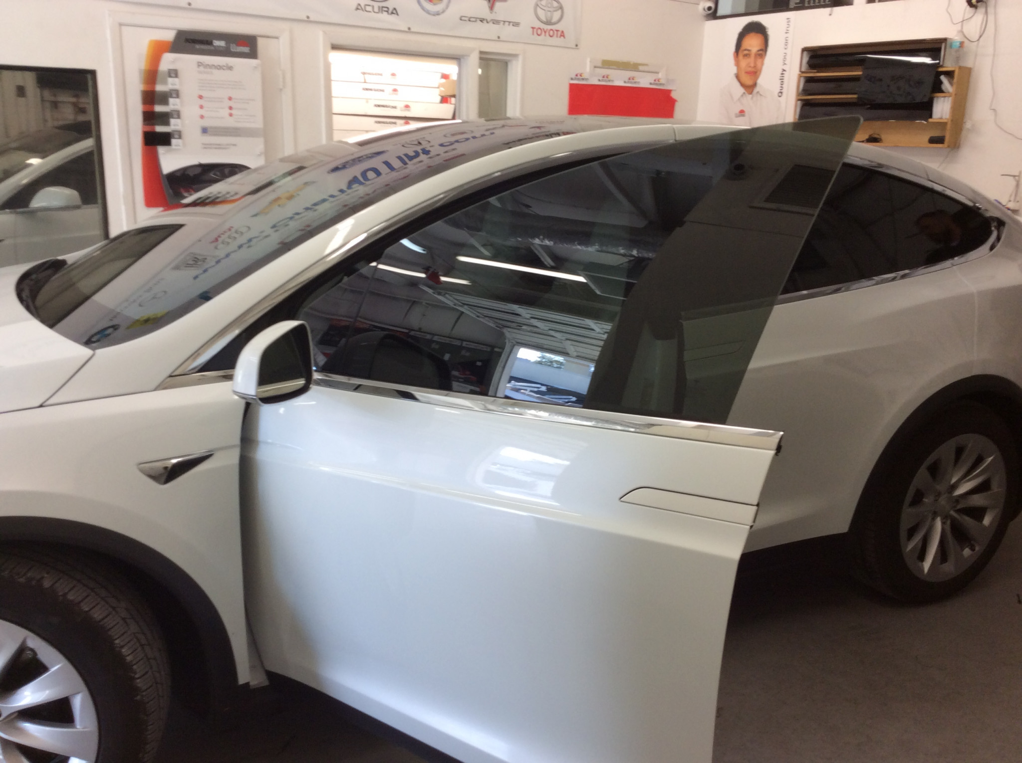 Model X Side Window Tinting Orlando FL