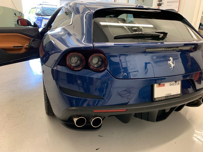 2018 Ferrari Lusso GTC Window Tinted in Orlando