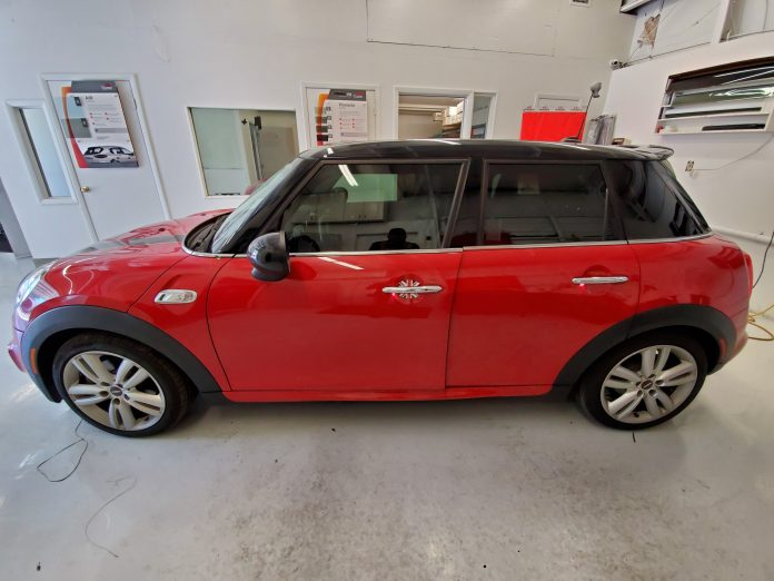 Red Mini Cooper Window Tinting In Orlando Fl Ultimate
