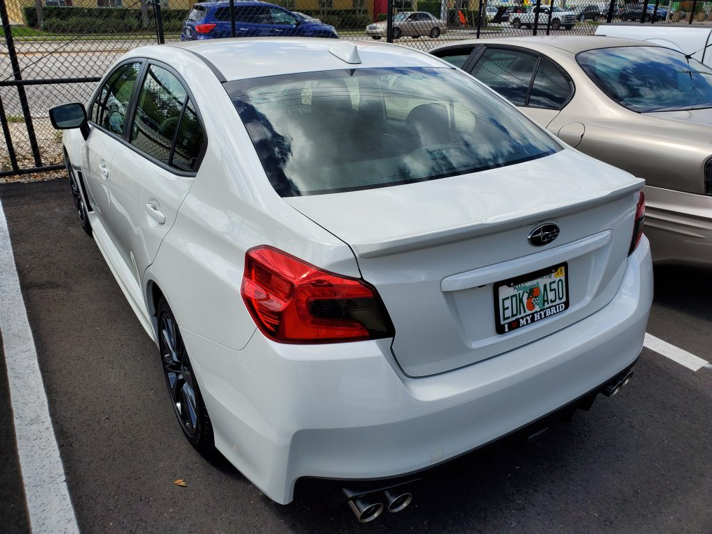 White 2019 Subaru WRX Window Tint