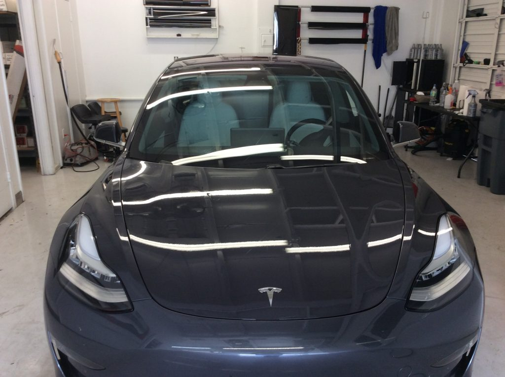 Tesla car window tint orlando