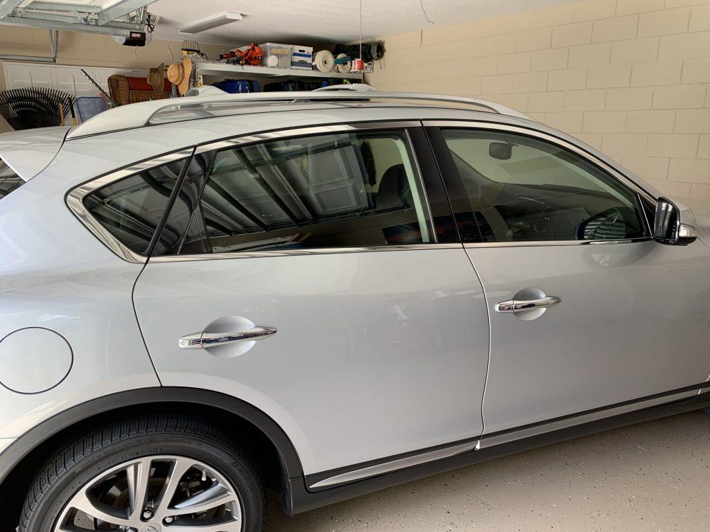 QX50 car window tint orlando
