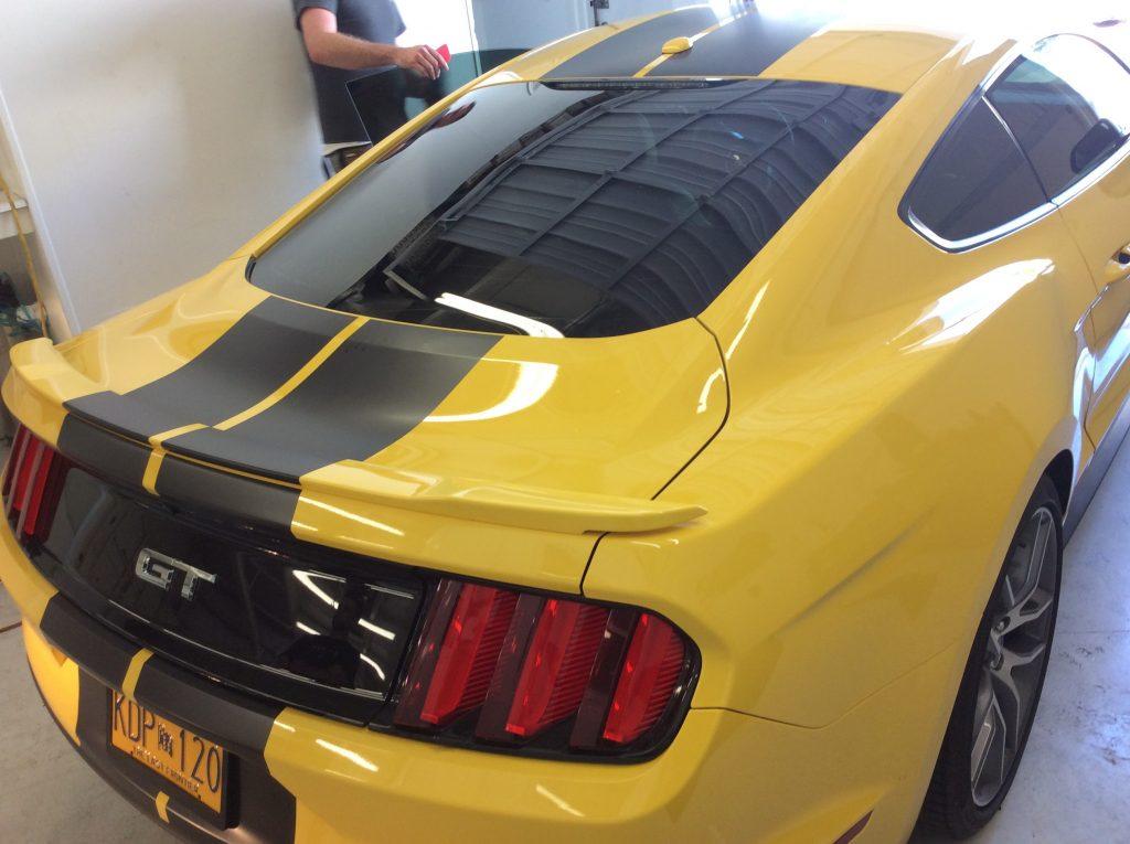 tinting car